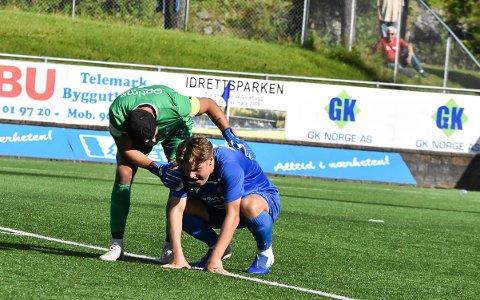 FRA START? NFKs hovedtrener, Magnus Erga, sier det er stor sannsynlighet for at Espen Hagen (18) starter lørdagens bortekamp mot Egersund.