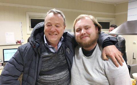 Like gode: Eilif Odde (til venstre) og Petter Andreas Wadstensvik.