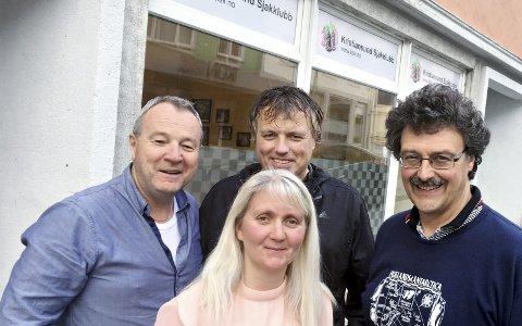 Ildsjeler: Eilif Odde (fra venstre), Wenche Tylden, Per Erik Hoem og Tore Kristiansen.