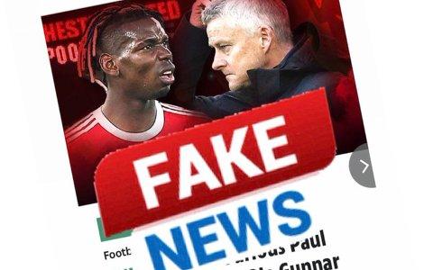 – Store løgner lager overskrifter, skriver Paul Pogba på Twitter.