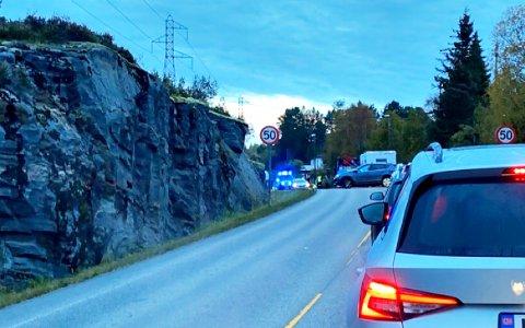 Ulykken med personbilen og sparkesykkelen skjedde onsdag morgen.
