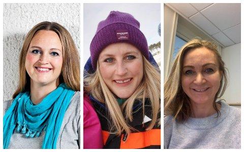 ENGASJERT: Foreldreutvalget for barnehager i Tønsberg ber norske myndigheter om å la småbarnsfamilien få bli i Norge. Fra venstre:  Christina Grefsrud-Halvorsen, Sandra D. Wang og Line Fjelddalen Eik.