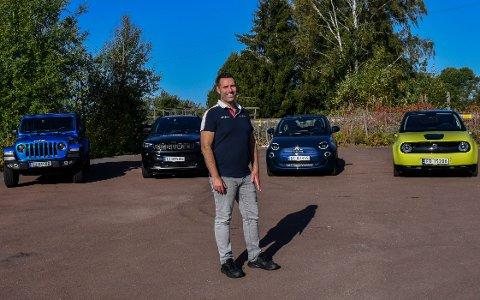 TOK OPPDRAGET: Fredrik Sandland er daglig leder av Mobile Auto Vestfold, som selger Jeep, Fiat, Alfa Romeo og Honda.