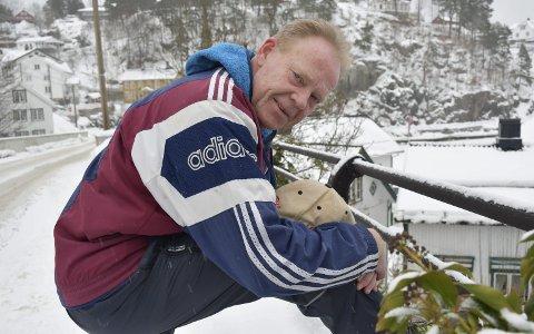 Still going strong: Finn Pedersen fyller snart 60 år, og ryggproblemene har gjort ham fem centimeter kortere enn han var for 40 år siden. Men konkurransesuget er der fortsatt. Foto: Olav Loftesnes