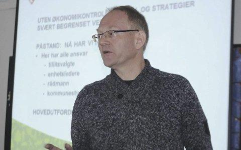 Vegårshei-ordfører Kjetil Torp håper på mest mulig utbytte fra Agder Energi. Arkivfoto