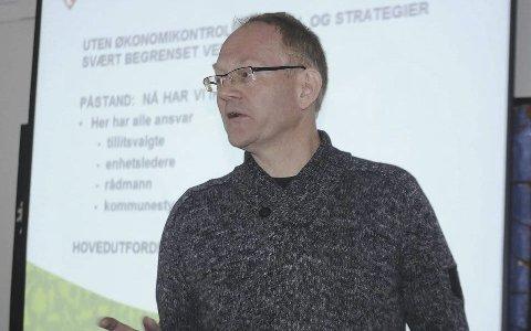 Kjetil Torp: Fikk det ikke som han ville i veisaken. Nå ser det også ut til at det kan bli forsinkelser i de andre planlagte innsparingene. Men noen plan B er ikke aktuelt. Arkivfoto