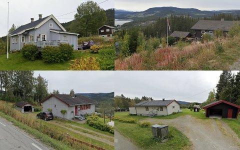 NYLIG SOLGT: Disse boligene i Øystre Slidre fikk nye eiere i september. Øvrebygdvegen 431 i Rogne (øverst t.v.) ble solgt for 1,36 millioner kroner, Sælshagadn 21 i Heggenes (nederst t.v.) ble solgt for 2,65 millioner, Brattbakkin 19 (øverst t.h.) i Rogne ble solgt for 3,6 millioner og Gamle Kyrkjevegen 52 i Heggenes (nederst t.v.) ble solgt for 1,6 millioner.