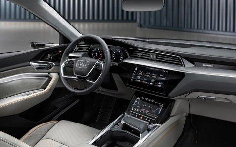 Interiøret ser ut til å ha høy kvalitetsfølelse, her har Audi sterke tradisjoner.