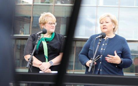 Kulturminister Trine Skei Grande og statsminister Erna Solberg.