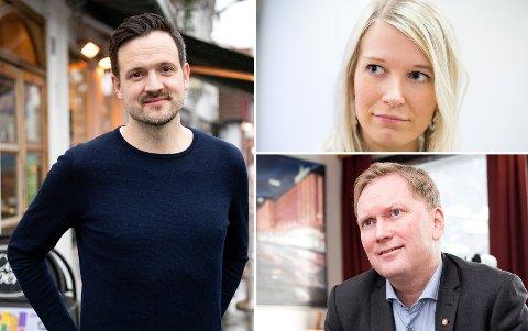 Dag Inge Ulstein blir trolig utviklingsminister. Det er både Rebekka Ljosland (KrF) og Harald Schjelderup (Ap, nederst) glade for.