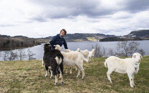 Solveig Lilletvedt er odelsjente på gården Framnes på Kaland. Der deler hun 250 mål med både to- og firbeinte. FOTO: Emil Weatherhead Breistein