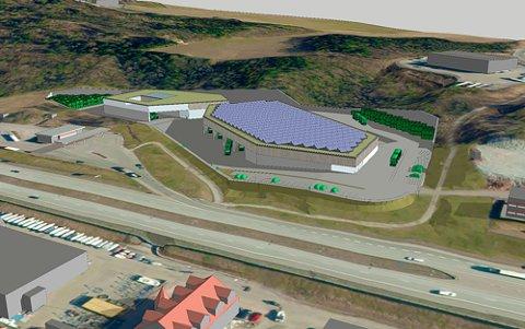 POLITIKK. Ragn-Sells vil bygge topp moderne avfallsanlegg på Eikhaugen i Drammen.