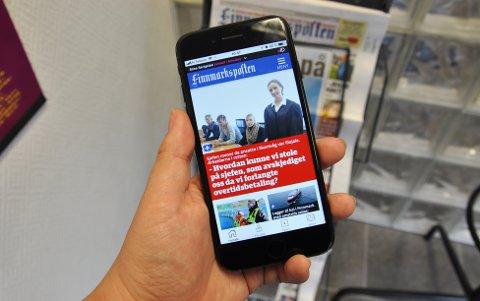 NYHETSVARSLER: Med denne appen får du nyhetsvarsler fra Finnmarksposten til telefonen din.
