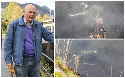 IKKJE AKSEPTABELT: Alf Jonas Pettersen kan ikkje akseptere at folk forsøplar kanalen med handlevognar.