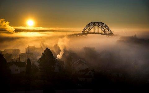 Vi kan vente oss kuldegrader i Fredrikstad stort sett hele denne uken og mandag formiddag varsles det også strålende solskinn.