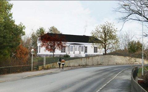 Alf Ulven ser for seg at Kniple gård kan bli tilbakeført til empire-stilen bygget hadde på slutten av 1800-tallet.