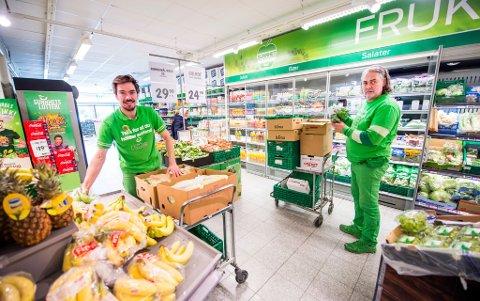 Brødresuksess: Stian (til venstre) og Endre Tønnesen selger mat for over én million kroner til Kiwi-kundene på LIsleby hver uke. 2019 ble et godt år.
