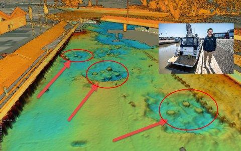Seutelva har blitt grundig undersøkt av firmaet Styvehavn på Øra etter at Reine Norbom (innfelt) i april i år kjørte på et ukjent «undervannsskjær» med sin nyinnkjøpte «Princess V 52». Undersøkelsen « viser i hovedsak at det står igjen pæler i stål etter den midlertidige brua som Statens vegvesen satte opp. De stikker så grunt at det er stor fare for å gå på der om man seiler der med en båt av en viss størrelse.» sier Roar Johansen, assisterende havnedirektør i Borg Havn.