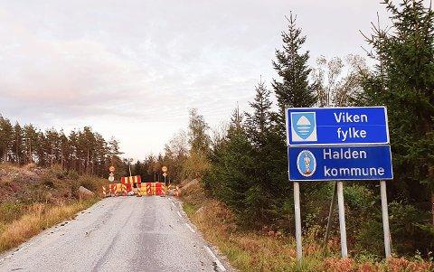 Slik ser det ut ved grenseovergangen på Tyslingmoen.