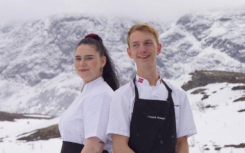 Mari Ruud fra Hamar og Fredrik Skaugen fra Brumunddal skal lage mat på restauranten i Jotunheimen Fjellstue i sommer.