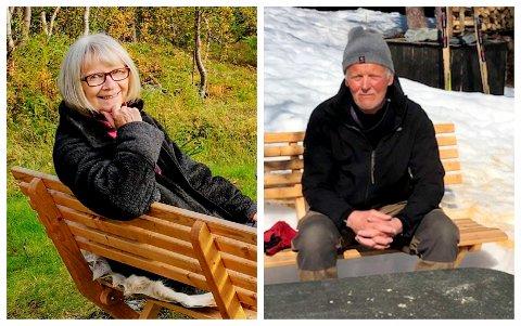 Mons Grøvlen og Berit Brandth feirer gullbryllup i 2021.