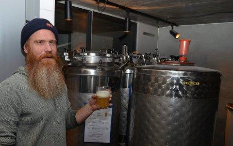 NY ØLFESTIVAL: Jeremy Metzger fronter den nye Hamar Mikro Bryggerifestival, som foreningen Aktiv i Hamar står bak. (Foto: Bjørn-Frode Løvlund)