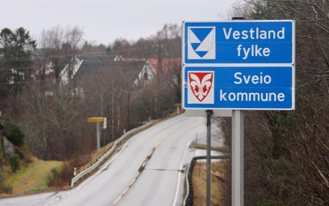 KAN BLI ENDRING: Sveio kommune vurderer å bytte fylke til Rogaland.
