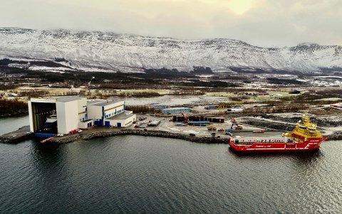 KONTRAKT: Fra Westcn Helgelands anlegg på Nesna.