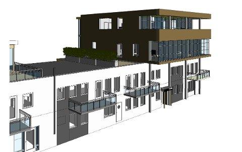 """FASADE: Slik vil """"nye"""" Vadsø Brygge kunne bli seende ut om Hans-Jacob Bønå får lov til å bygge tre nye leiligheter."""