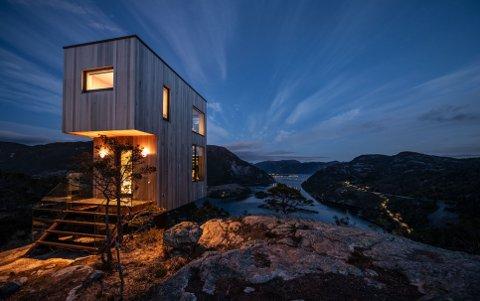 MINIHYTTER: Seks slike hytter ønsket Mesto AS å bygge på Gumøy.