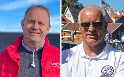 KOM I MÅL: Ordfører Grunde Wegar Knudsen (Sp) og Martin Eikeland fra prosjektgruppa Livet på Levangsheia har sikret avtale med Telenor.