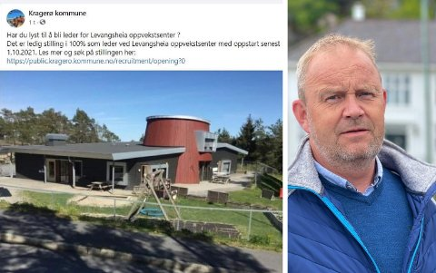 FEIL: Kommunen så ut til å ha glemt at Levangsheia barnehage ikke lenger skal brukes til høsten. Ordføreren ser at bildebruken var uheldig.