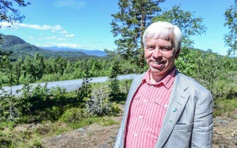 NYTT BOLIGFELT: Ordfører Oddvar Garaas vil satse stort på boligfeltet i Lampeland i 2018.