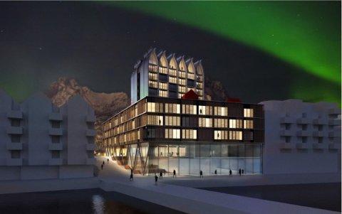 Vil satse: Slik ser det nederlandske arkitektfirmaet Concrete for seg et hotell på havnepromenaden i Svolvær