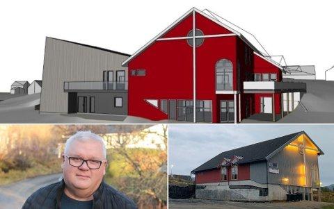 Gravingen er i gang rundt Betel-bygget på Leknes. Roger Larsen gleder seg til å se sluttresultatet.