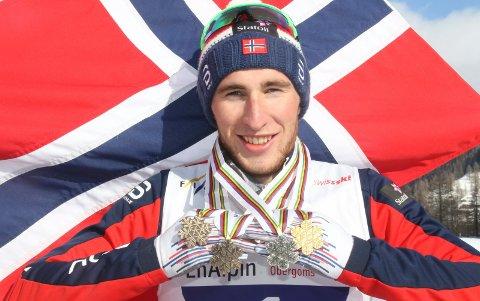 I RUTE: Jørgen Lippert tok fire medaljer under Junior-VM i langrenn i Sveits sist vinter. Og framgangen fortsetter på vei inn i en knalltøff tid som seniorløper.