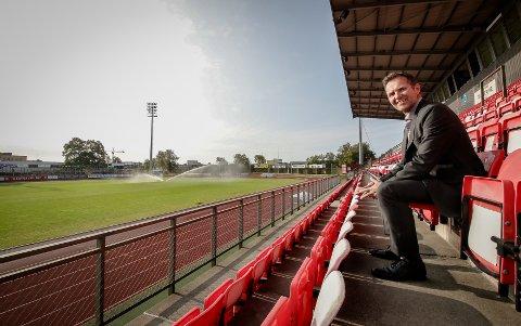 BEDRINGENS VEI: Styreleder Geir Hagnes har allerede rukket å bidra til gode inntekter for Moss Fotballklubb.