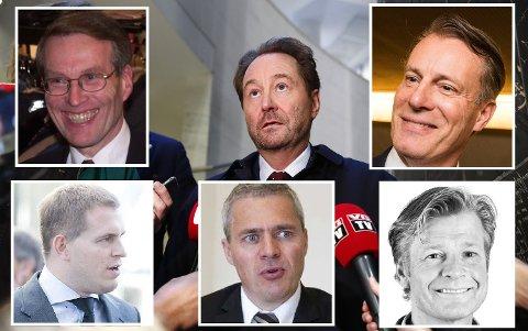 Milliardærer: Kjell Inge Røkke er Norges rikeste person, med en ligningsformue på 18,6 milliarder kroner. Erik Must, Frederik W. Mohn, Dag Rasmussen, Johan H. Andresen og Edgar Haugen har også alle over 1 milliard i formue.