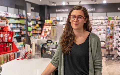 TRIST DAG: Daglig leder Anniken Albrigtsen (35) ved Notabene på Nerstranda fikk i dag beskjed om at kjeden er konkurs.