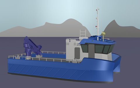 Grovfjord Mekaniske bygger denne katamaranen for Salmar.