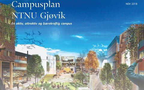 URBANT: Utvidelsen av NTNUs området på Kallerud i Gjøvik vil knytte undervisningsbyggene tettere, og skape et mer harmonisk miljø.
