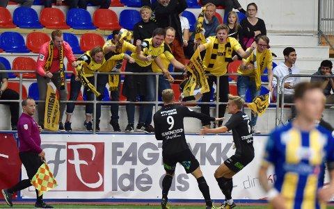 Anton Henningsson jubler for scoring mot Alta