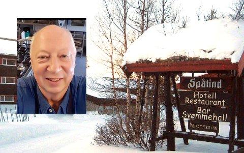 NY SJEF: Kåre Skutle Høvik skal lede Spåtind Sport hotell de neste tre årene. Han har allerede begynt i jobben.
