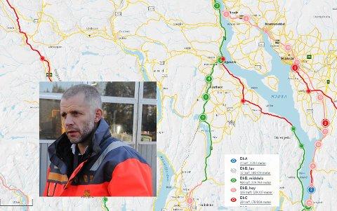 GODT NOK: Asbjørn Stensrud i Statens Vegvesen mener driftsklasse C holder for trafikantene i Oppland.