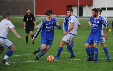 Thomas Amlien scoret Reinsvills første mål mot Flisa.