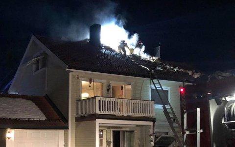 BRANN på KJØKKEN: Branntilløpet ble lokalisert til kjøkkenet i den ene av leilighetene og ble raskt slukket.