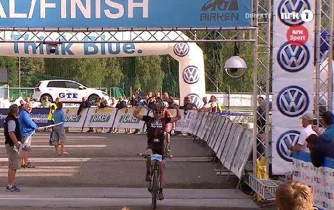 JUBEL: Carl Fredrik Hagen kunne juble for sin første seier i Birkebeinerrittet.