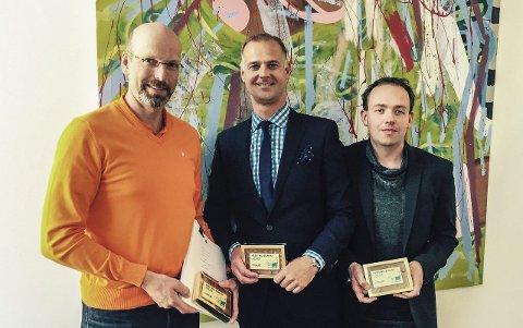 ABAX I NEDERLAND: Petter Quinsgaard, CEO ABAX As og Martijn Zewald, CEO Trevler B.V (framtidig CEO, ABAX Netherlands) BV) og Ronald Westgeest, CTO, Trevler BV.