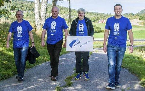 Lardal Høyre: Knut Terje Ovesen (t.v.), John Arne Hellingsrud, Ruth Elise Roso Wear og Lars Johan Røsholt.