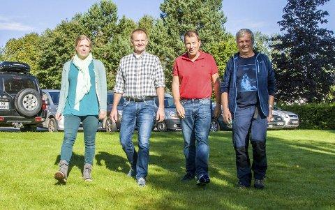 Lardal Sp: Synnøve Pernille Tepsel (t.v.), Knut Olav Omholt, Knut Hansejordet og Sølver Sjulstad.